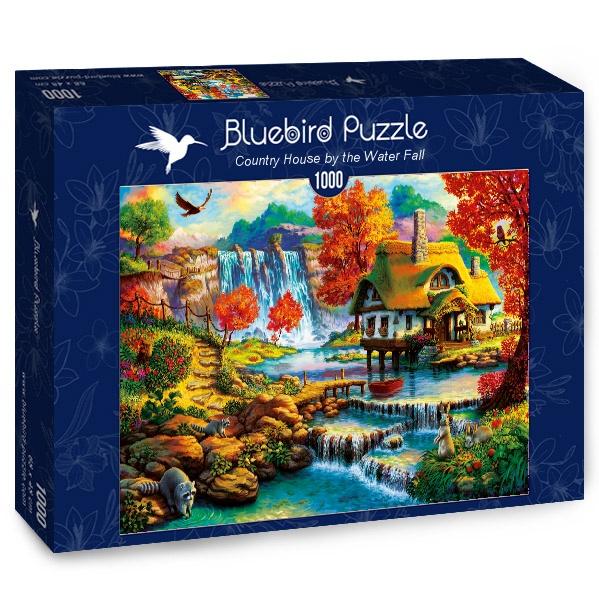 Puzzle Bluebird Casa de Campo Junto a la Cascada de 1000 Piezas