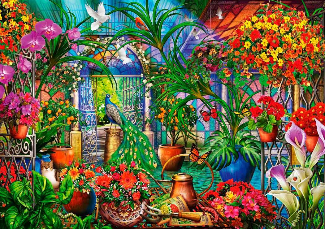 Puzzle Bluebird Casa Verde Tropical de 1000 Piezas