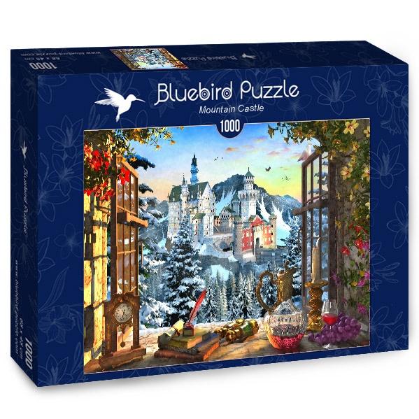 Puzzle Bluebird Castillo de Montaña de 1000 Piezas