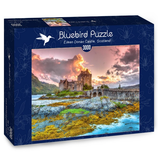 Puzzle Bluebird Castillo Eilean Donan, Escocia de 3000 Piezas