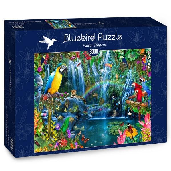 Puzzle Bluebird Loros en el Trópico de 3000 Piezas