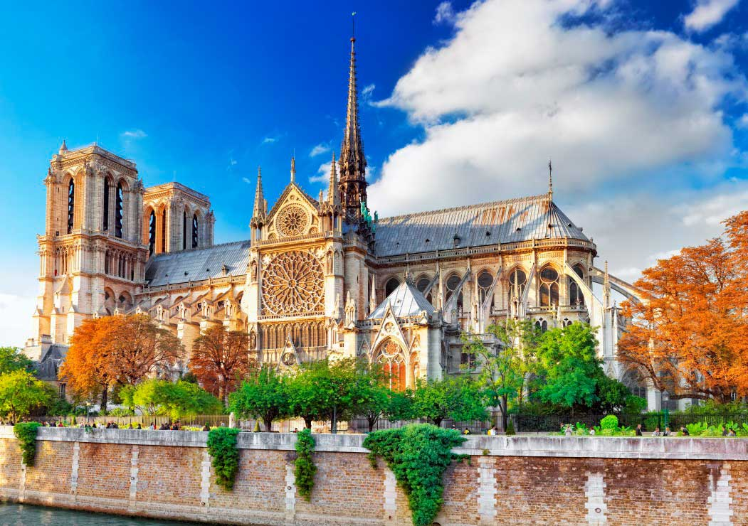 Puzzle Bluebird Catedral de Notre-Dame de 1000 Piezas