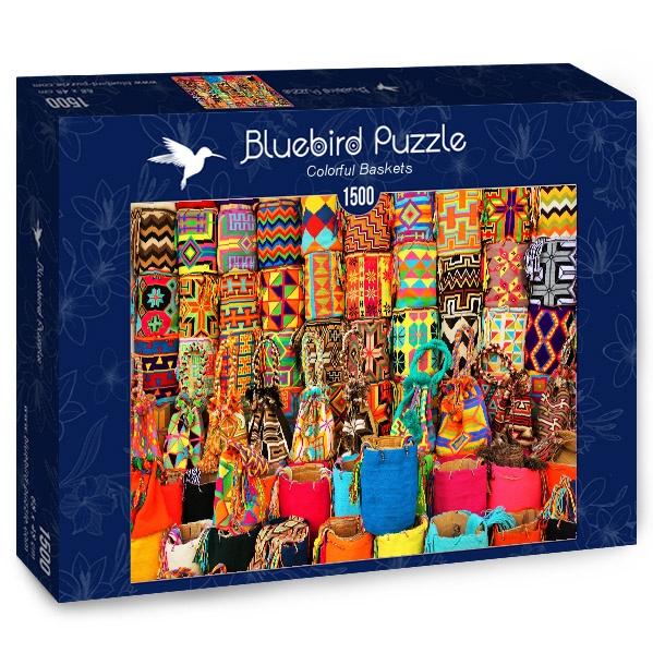 Puzzle Bluebird Cestas de Colores de 1500 Piezas
