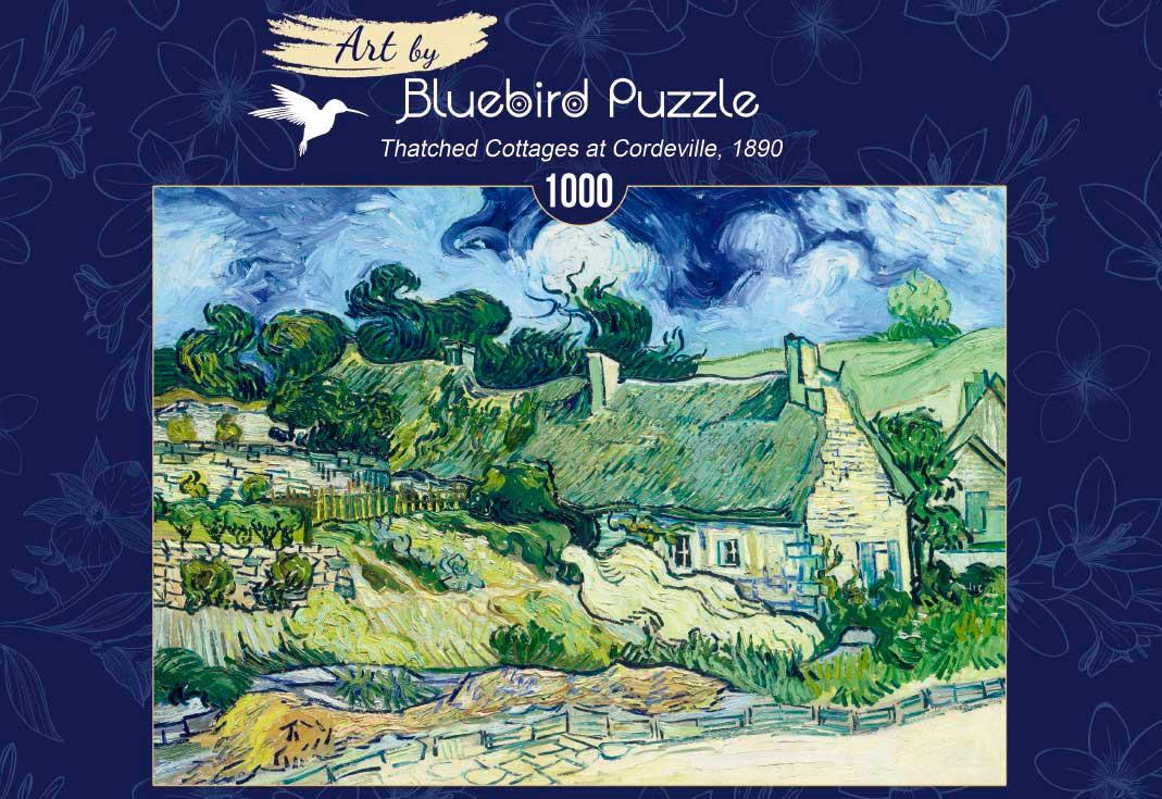 Puzzle Bluebird Chozas en Cordeville de 1000 Piezas