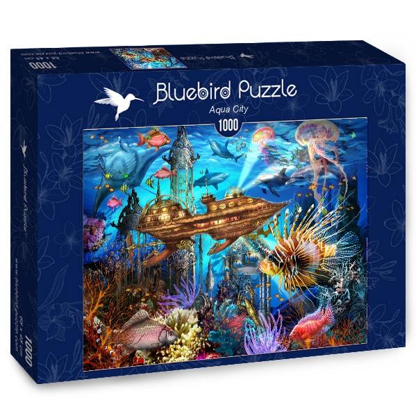 Puzzle Bluebird Ciudad Acuática de 1000 Piezas