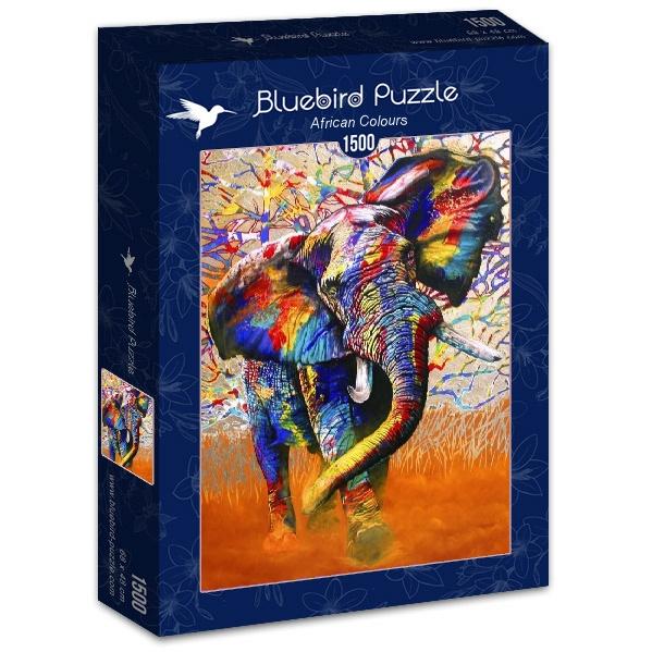 Puzzle Bluebird Colores Africanos de 1500 Piezas