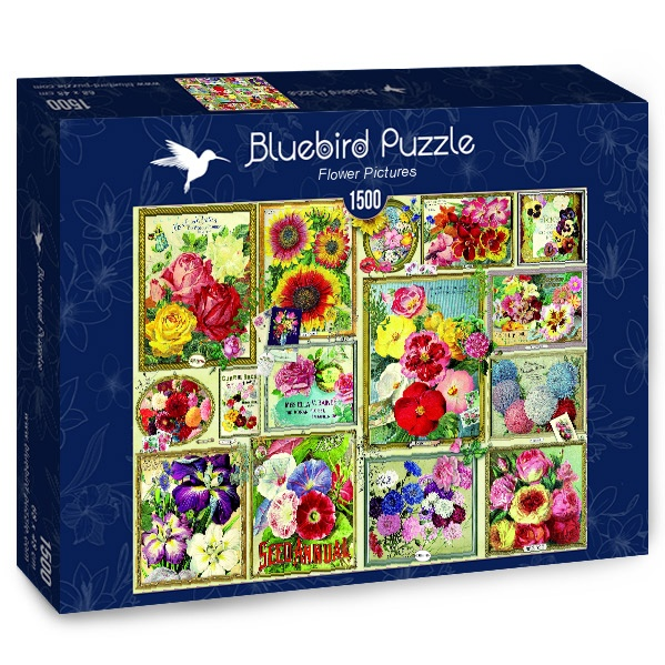 Puzzle Bluebird Cuadros de Flores de 1500 Piezas