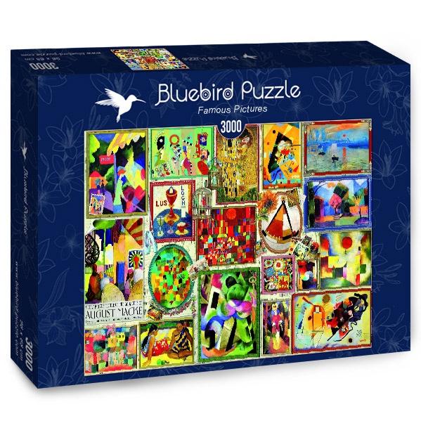 Puzzle Bluebird Cuadros Famosos de 3000 Piezas