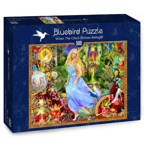 Puzzle Bluebird Cuando el Reloj Marque la Medianoche de 500 Pzs