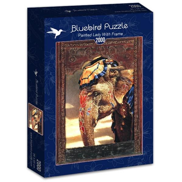 Puzzle Bluebird Dama Pintada con Marco de 2000 Piezas