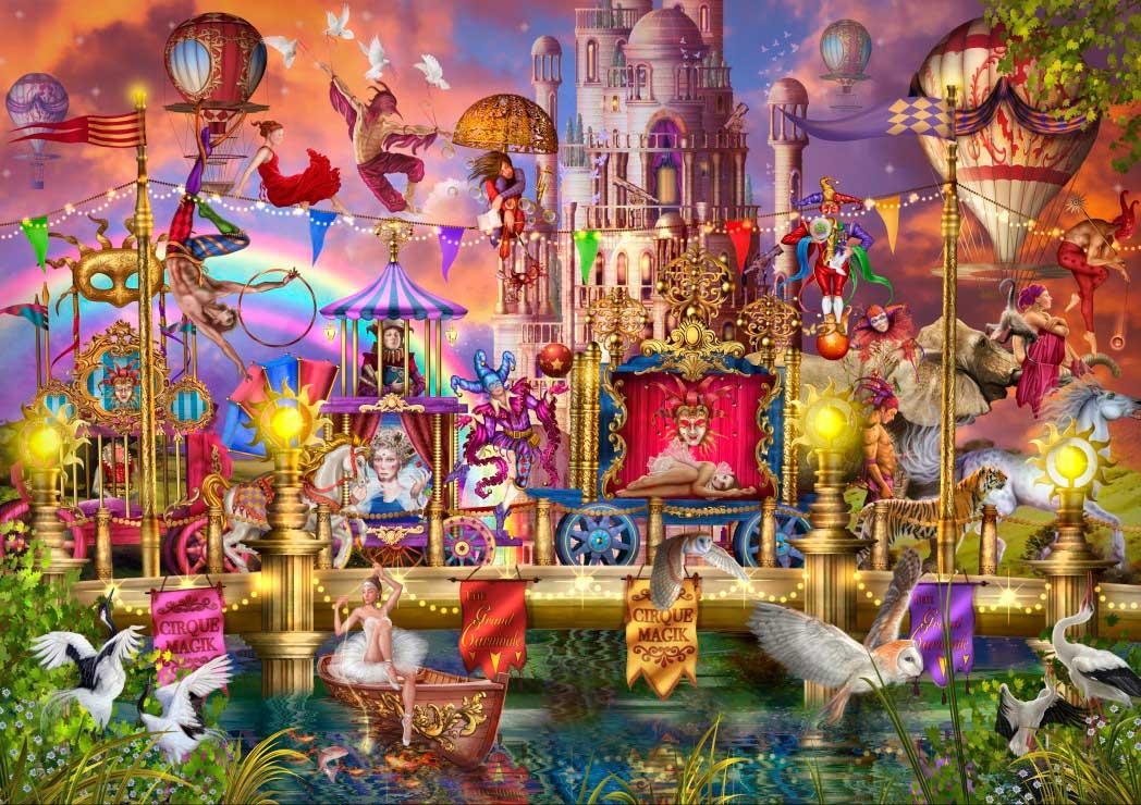 Puzzle Bluebird Desfile del Circo Mágico de 6000 Piezas
