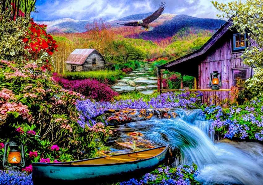 Puzzle Bluebird El Cielo y la Tierra de la Montaña de 1500 Pieza