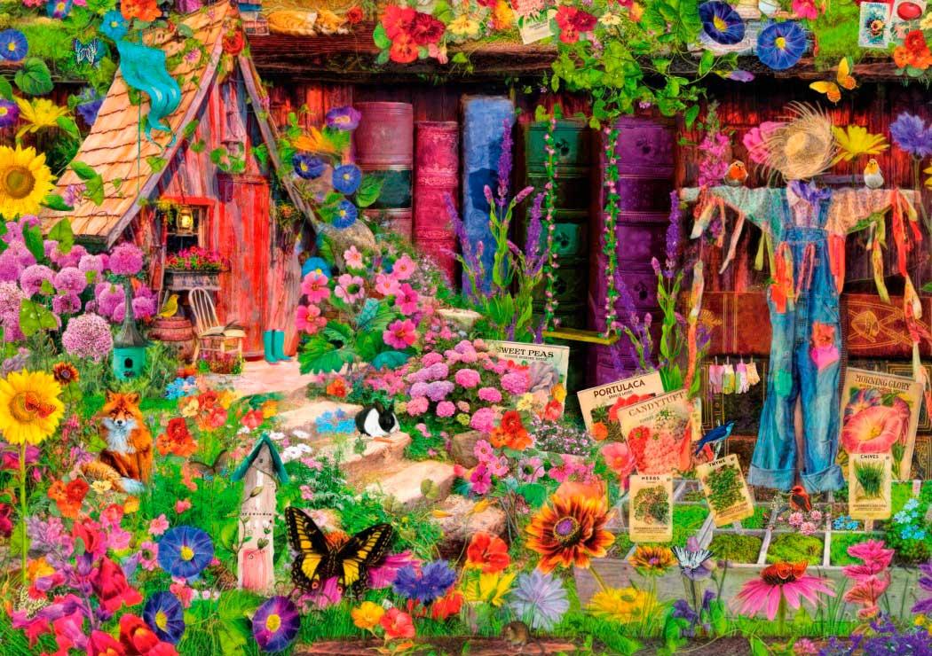 Puzzle Bluebird El Jardín del Espantapájaros de 1000 Piezas