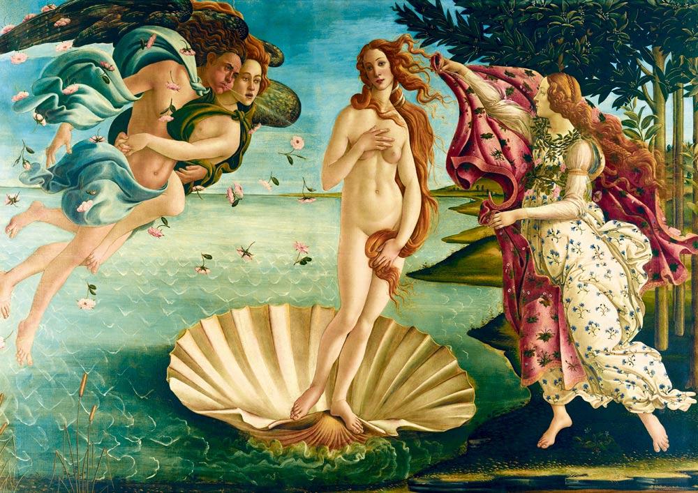 Puzzle Bluebird El Nacimiento de Venus de 1000 Piezas