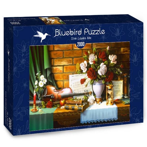 Puzzle Bluebird Ella Me Quiere de 2000 Piezas