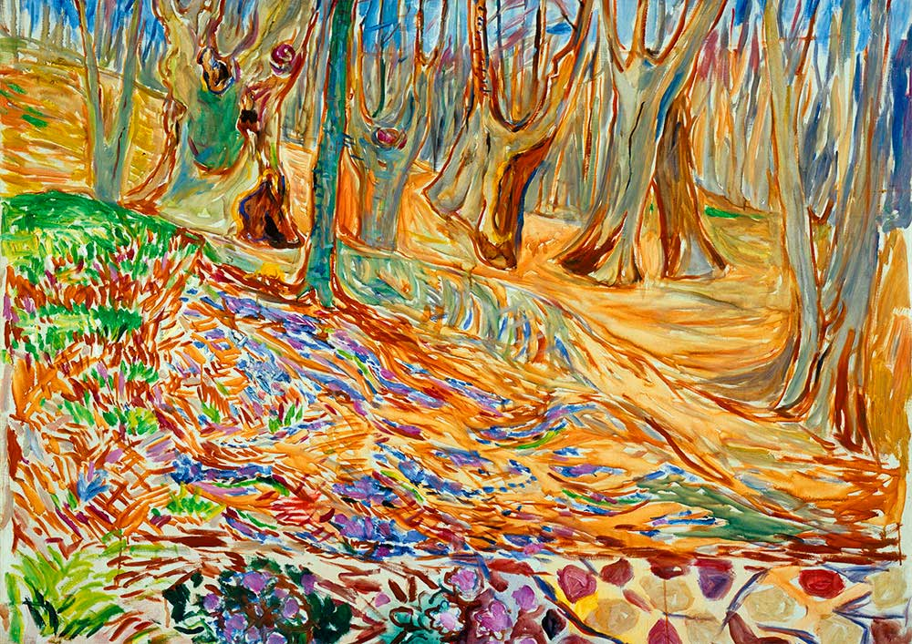 Puzzle Bluebird Elm Forrest en Primavera de 1000 Piezas