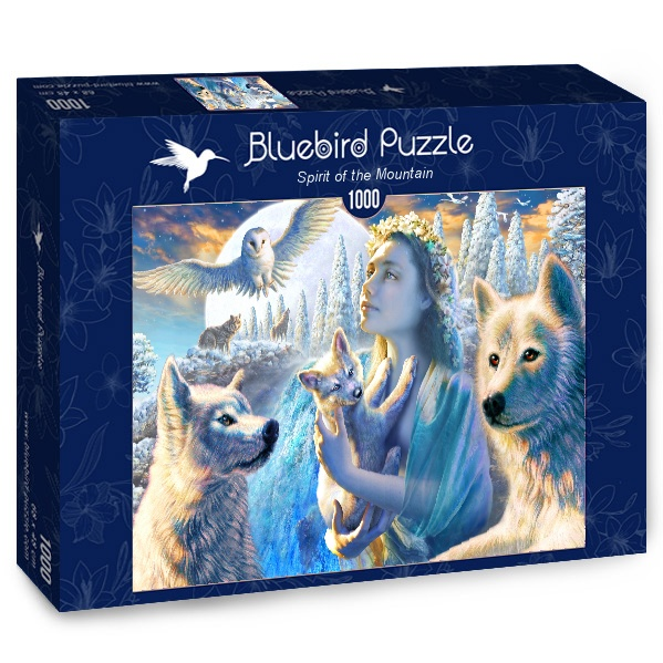 Puzzle Bluebird Espíritu de la Montaña de 1000 Piezas