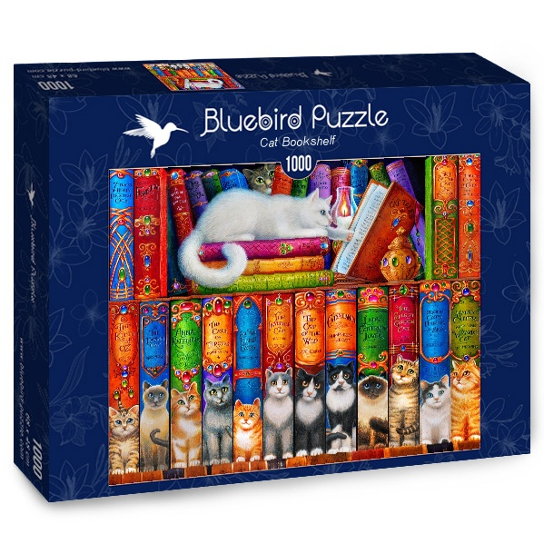 Puzzle Bluebird Estantería de Gatos de 1000 Piezas