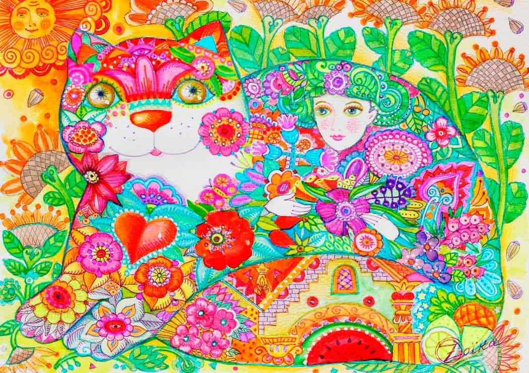 Puzzle Bluebird Flores de 1000 Piezas