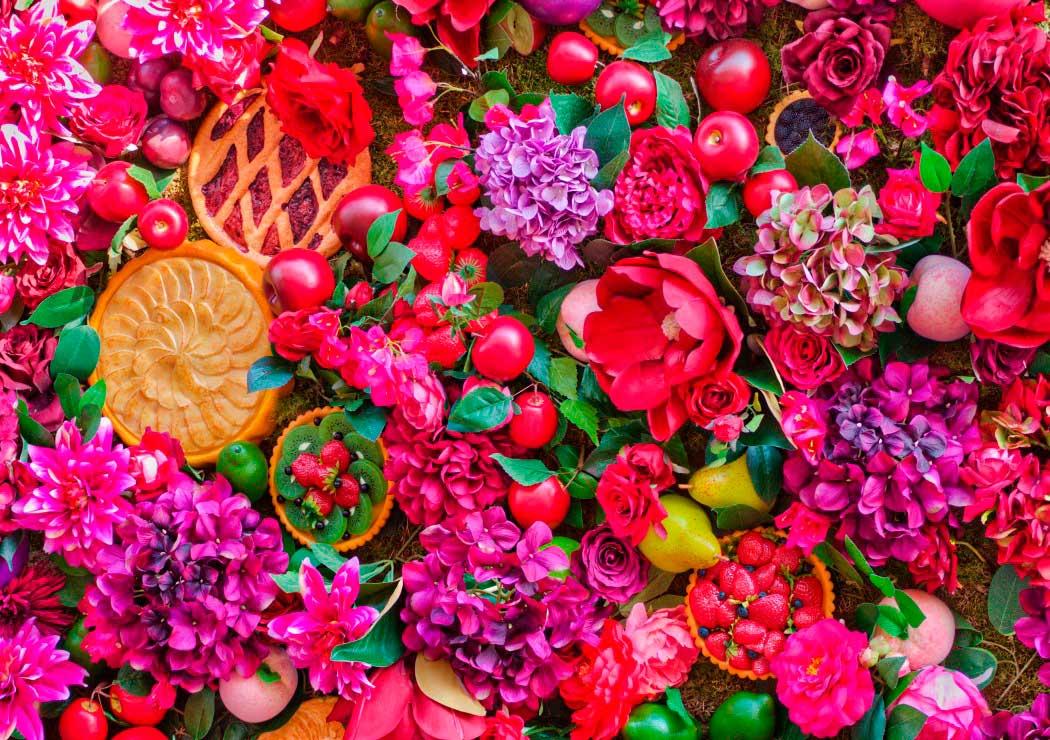 Puzzle Bluebird Flores y Frutas de 1500 Piezas