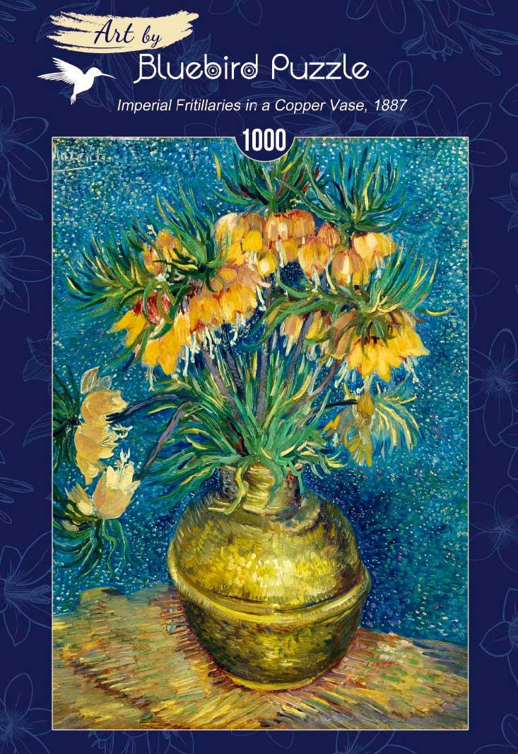 Puzzle Bluebird Fritillarys Imperiales en Jarrón de Cobre 1000P
