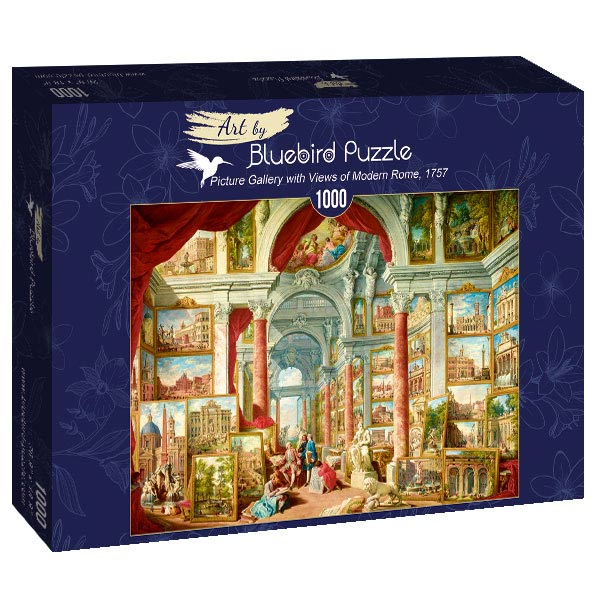 Puzzle Bluebird Galería con Vistas de la Roma Moderna de 1000 P.