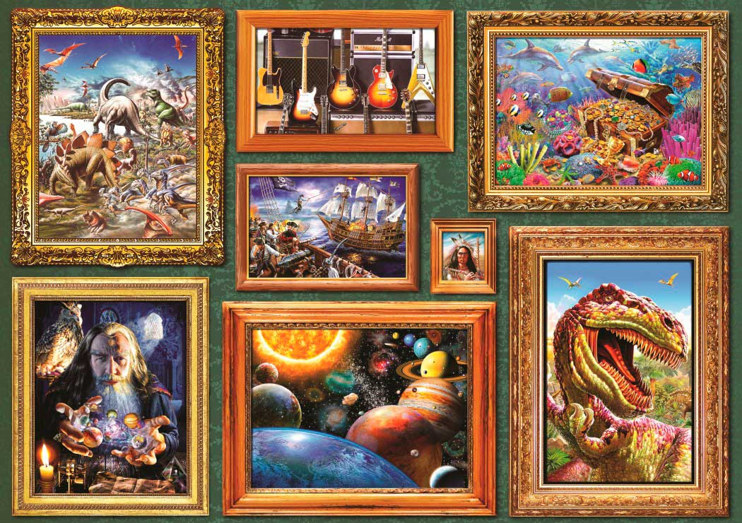 Puzzle Bluebird Galería de Chicos 8 de 1000 Piezas