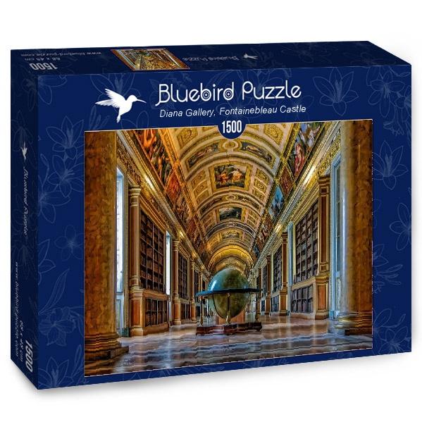 Puzzle Bluebird Galería Diana, Castillo Fontainebleau 1500 Pieza