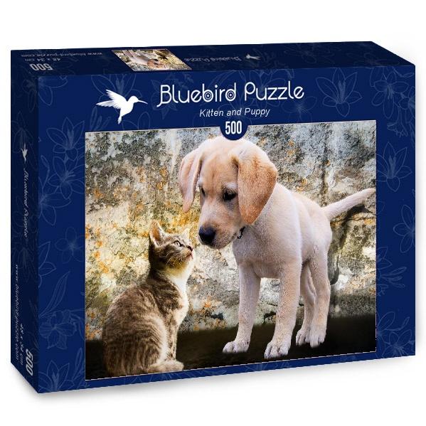 Puzzle Bluebird Gatito y Chachorro de 500 Piezas