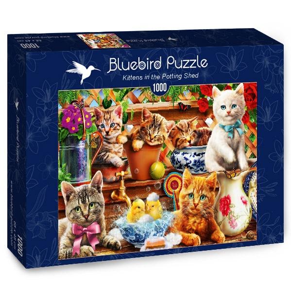 Puzzle Bluebird Gatitos en el Cobertizo de 1000 Piezas
