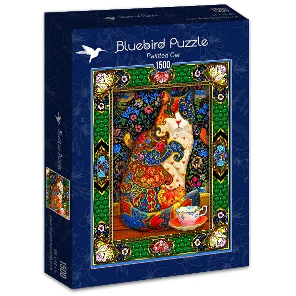 Puzzle Bluebird Gato Pintado de 1500 Piezas