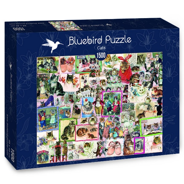 Puzzle Bluebird Gatos de 1500 Piezas