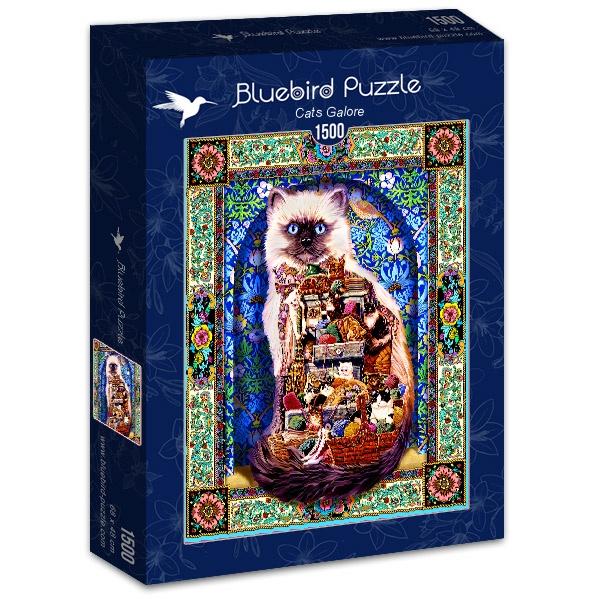 Puzzle Bluebird Gatos en Abundancia de 1500 Piezas