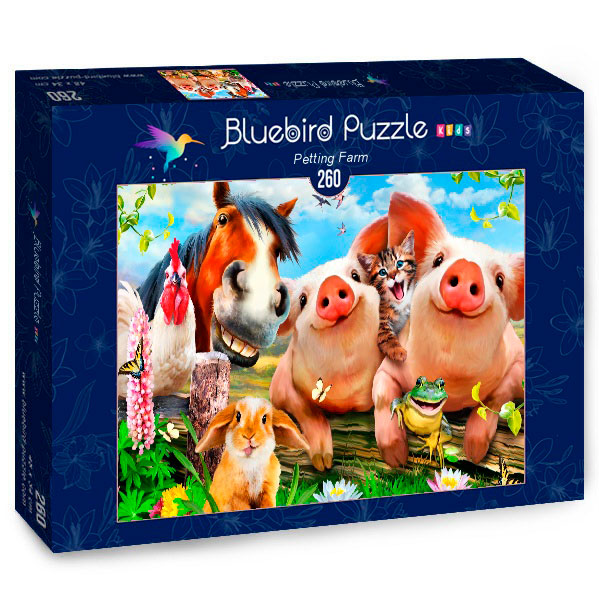 Puzzle Bluebird Granja de Mascotas de 260 Piezas