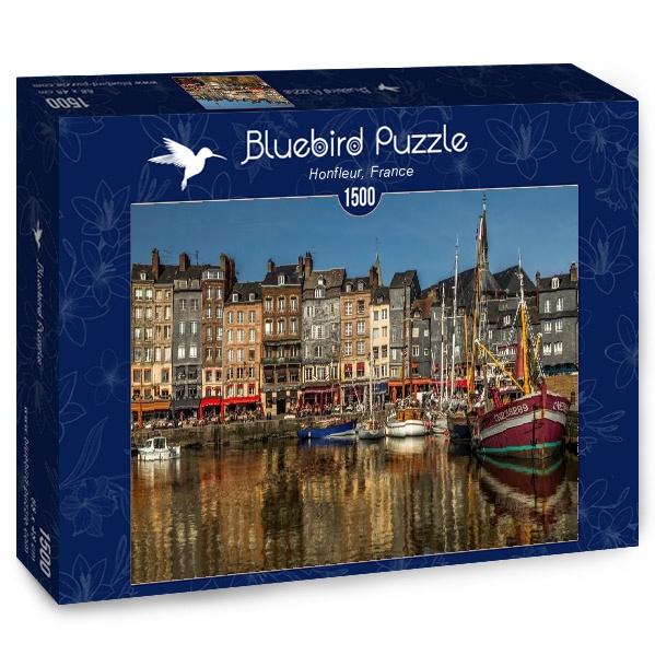 Puzzle Bluebird Honfleur, Francia de 1500 Piezas
