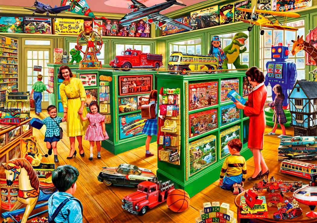 Puzzle Bluebird Interior de la Tienda de Juguetes de 1000 Pzs