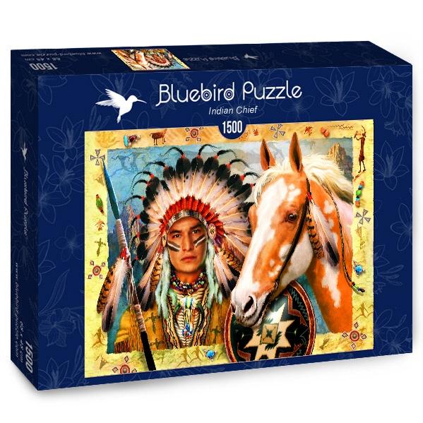 Puzzle Bluebird Jefe Indio de 1500 Piezas