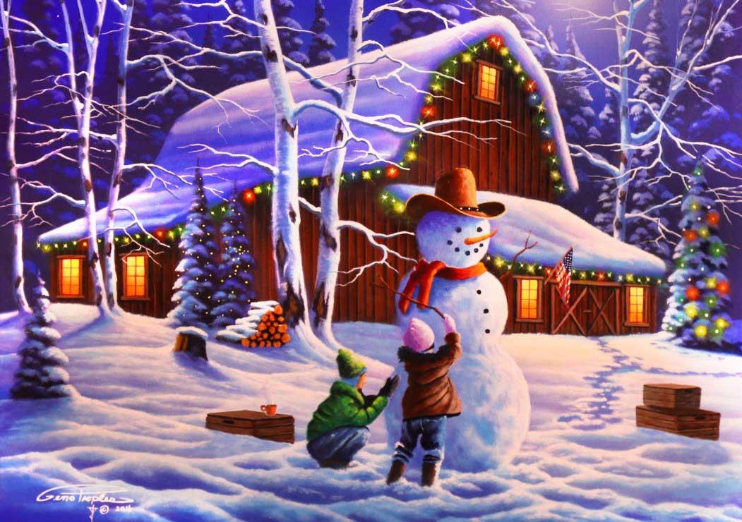 Puzzle Bluebird La Alegría de la Navidad de 1500 Piezas