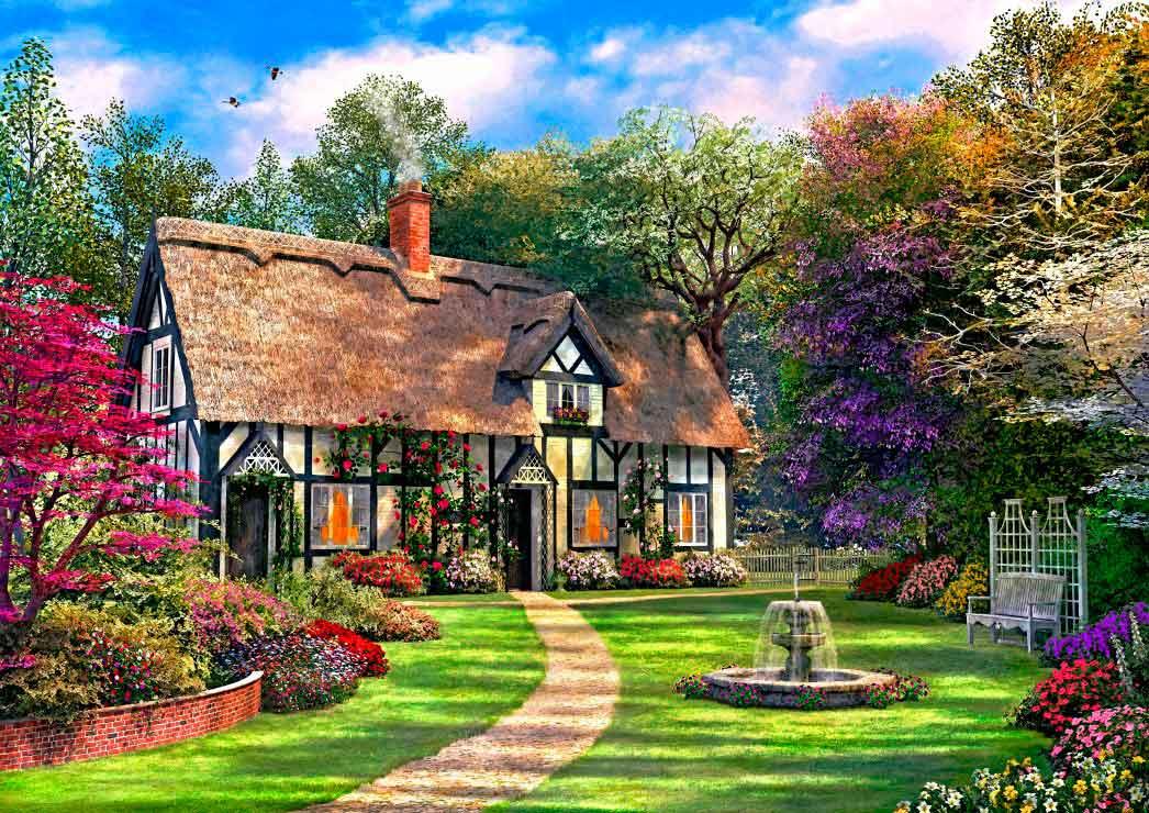 Puzzle Bluebird La Casa de Campo Escondida de 2000 Piezas
