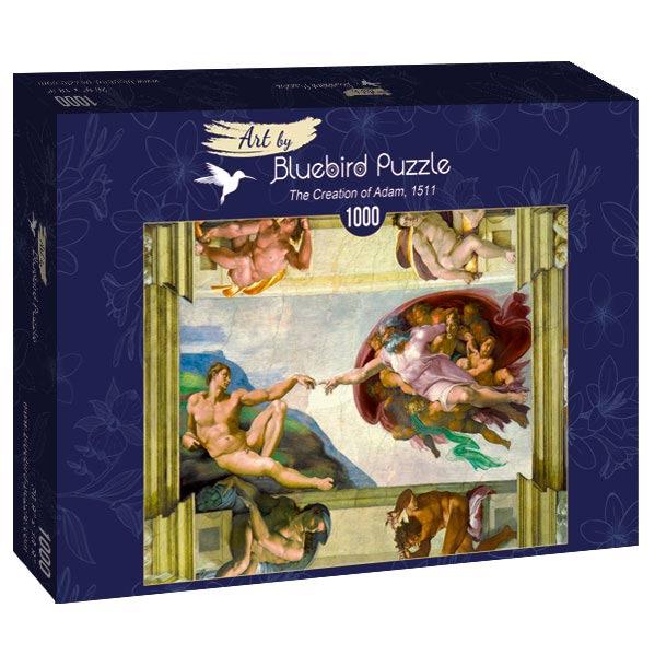 Puzzle Bluebird La Creación de Adán de 1000 Piezas
