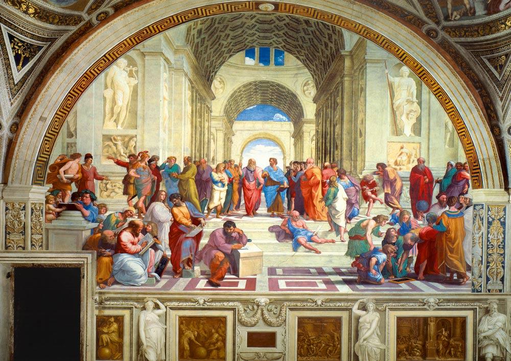 Puzzle Bluebird La Escuela de Atenas de 1000 Piezas