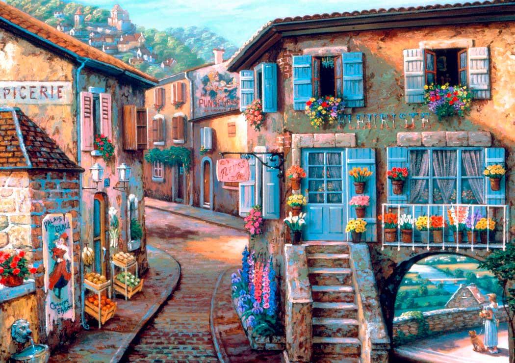 Puzzle Bluebird La Floristería de 1000 Piezas