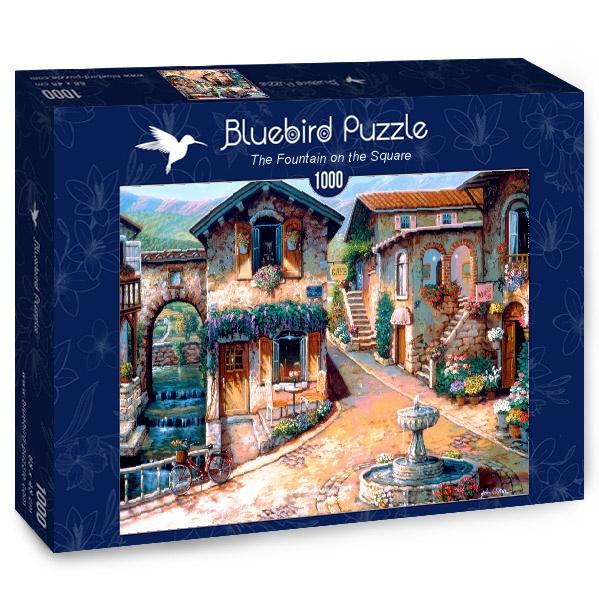 Puzzle Bluebird La Fuente en la Plaza de 1000 Piezas