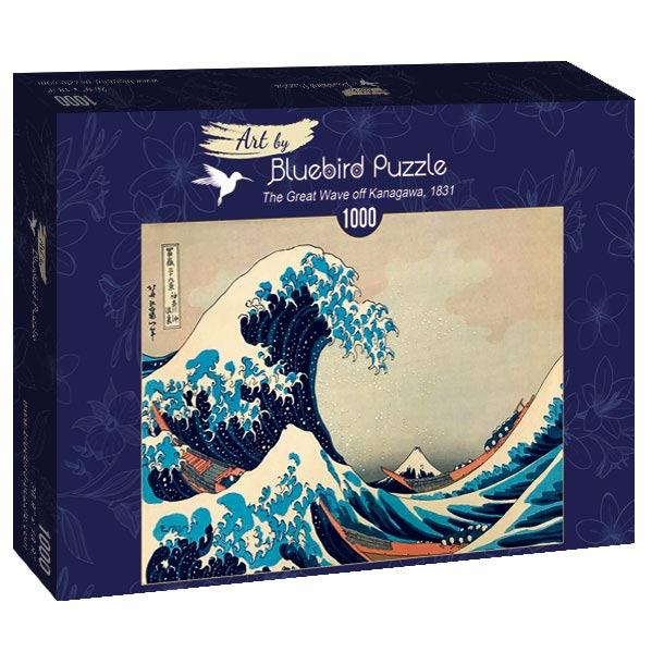 Puzzle Bluebird La Gran Ola de Kanagawa de 1000 Piezas