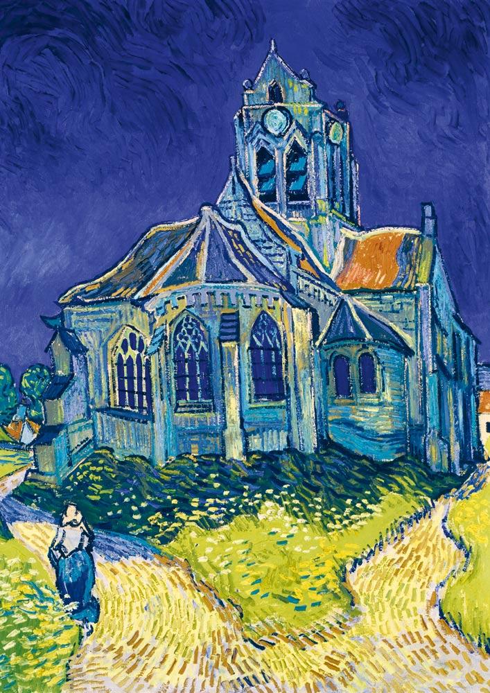 Puzzle Bluebird La Iglesia de Auvers de 1000 Piezas