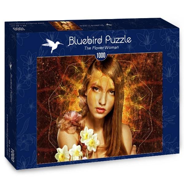 Puzzle Bluebird La Mujer Flor de 1000 Piezas