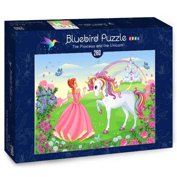 Puzzle Bluebird La Princesa y El Unicornio de 260 Piezas