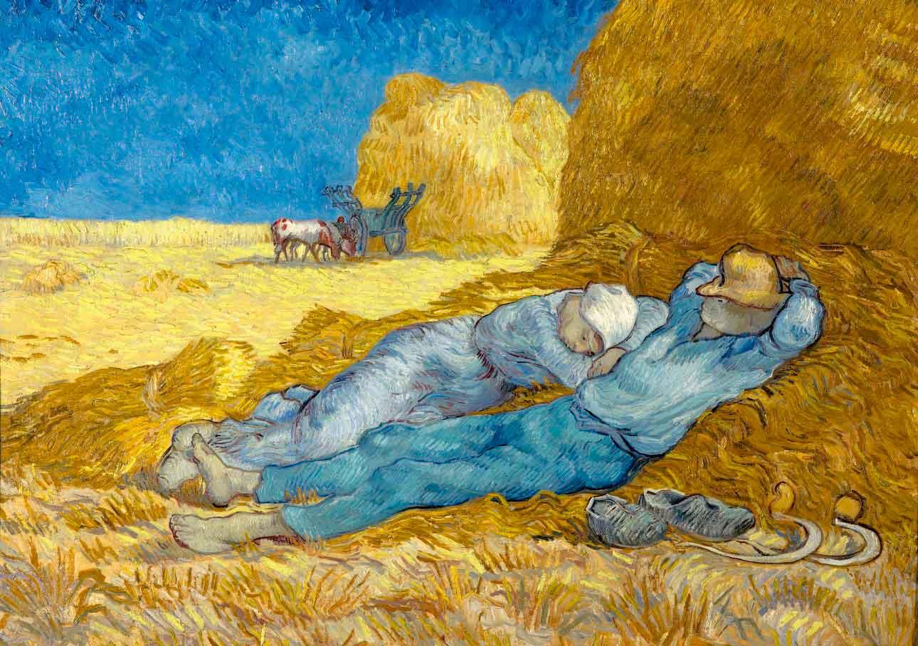 Puzzle Bluebird La Siesta (de Millet) de 1000 Piezas