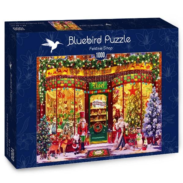 Puzzle Bluebird La Tienda Navideña de 1000 Piezas