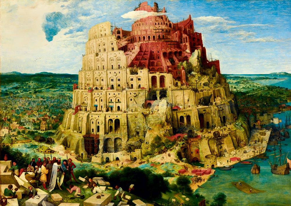 Puzzle Bluebird La Torre de Babel de 1000 Piezas